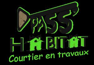 Logo PassHabitat vert fond noir